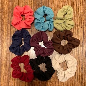 9 colorful scrunchies